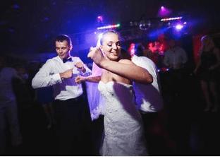 Wedding couple on the floor