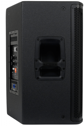 Image of the side of an active speaker